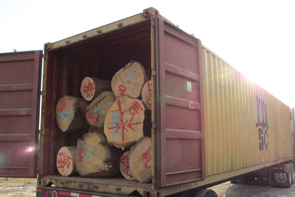 Providing our customers with logs domestically and internationally.